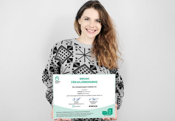 Nu får du diplom för miljöbesparing!