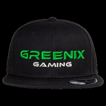 Greenix - Text snapback (Black)